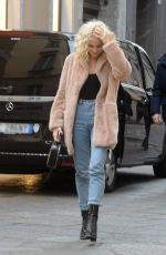 PIXIE LOTT Out Shopping in Milan 01/28/2017