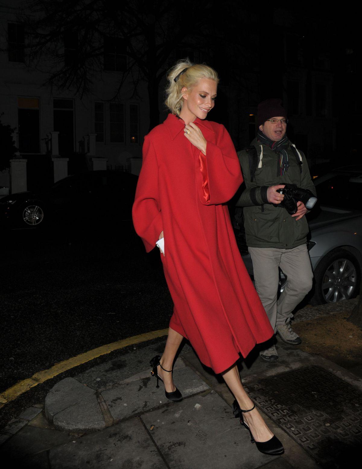 POPPY DELEVINGNE Arrives at Rodial VIP Dinner in London 01/16/2017