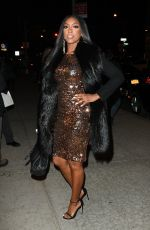 PORSHA WILLIAMS Arrives at Watch What Happen Live in New York 01/15/2017