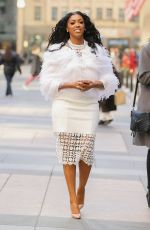 PORSHA WILLIAMS Out and About in New York 01/13/2017