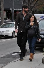 Pregnant JENELLE EVANS Out and About in Wilmington 01/04/2017