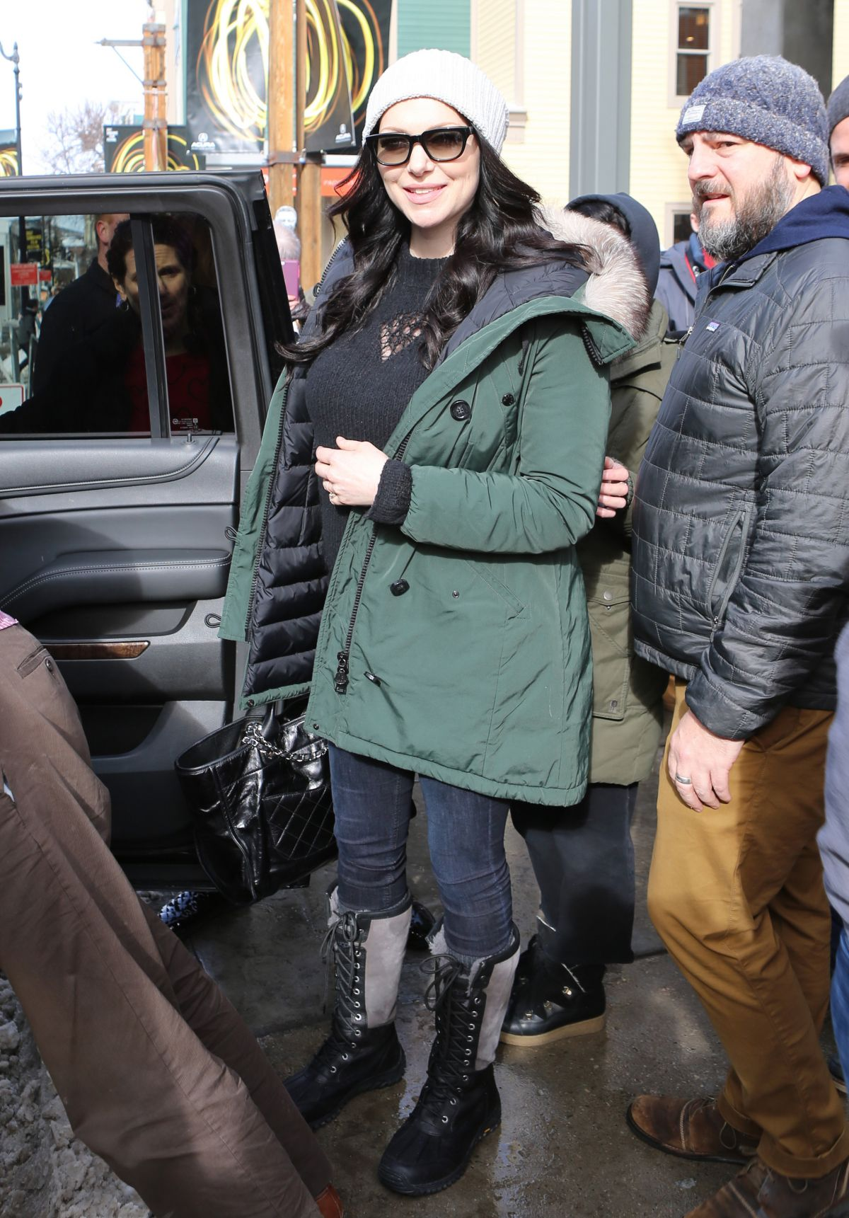 Pregnant LAURA PREPON Out in Park City 01/22/2017