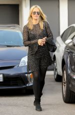 Pregnant MOLLY SIMS Leaves a Hair Salon in Beverly Hills 01/06/2017