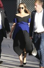 Pregnant NATALIE PORTMAN Arrives at Jimmy Kimmel Live in Hollywood 01/30/2017