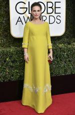 Pregnant NATALIE PORTMAN at 74th Annual Golden Globe Awards in Beverly Hills 01/08/2017