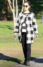Pregnant NATALIE PORTMAN Out and About in Los Angeles 01/14/2017
