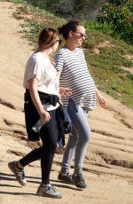 Pregnant NATALIE PORTMAN Out for a Hike in Los Feliz 01/30/2017