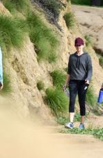 Pregnant NATALIE PORTMAN Out for a Walk in a Park in Los Angeles 01/18/2017