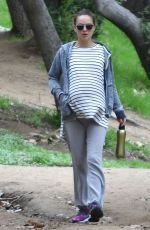 Pregnant NATALIE PORTMAN Out Hikinig in Los Feliz 01/02/2017