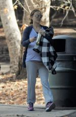 Pregnant NATALIE PORTMAN Out in a Park in Los Angeles 01/13/2017