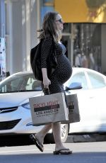Pregnant NATALIE PORTMAN Out Shopping in Los Feliz 01/06/2017