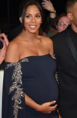 Pregnant ROCHELLE HUMES at National Television Awards in London 01/25/2017
