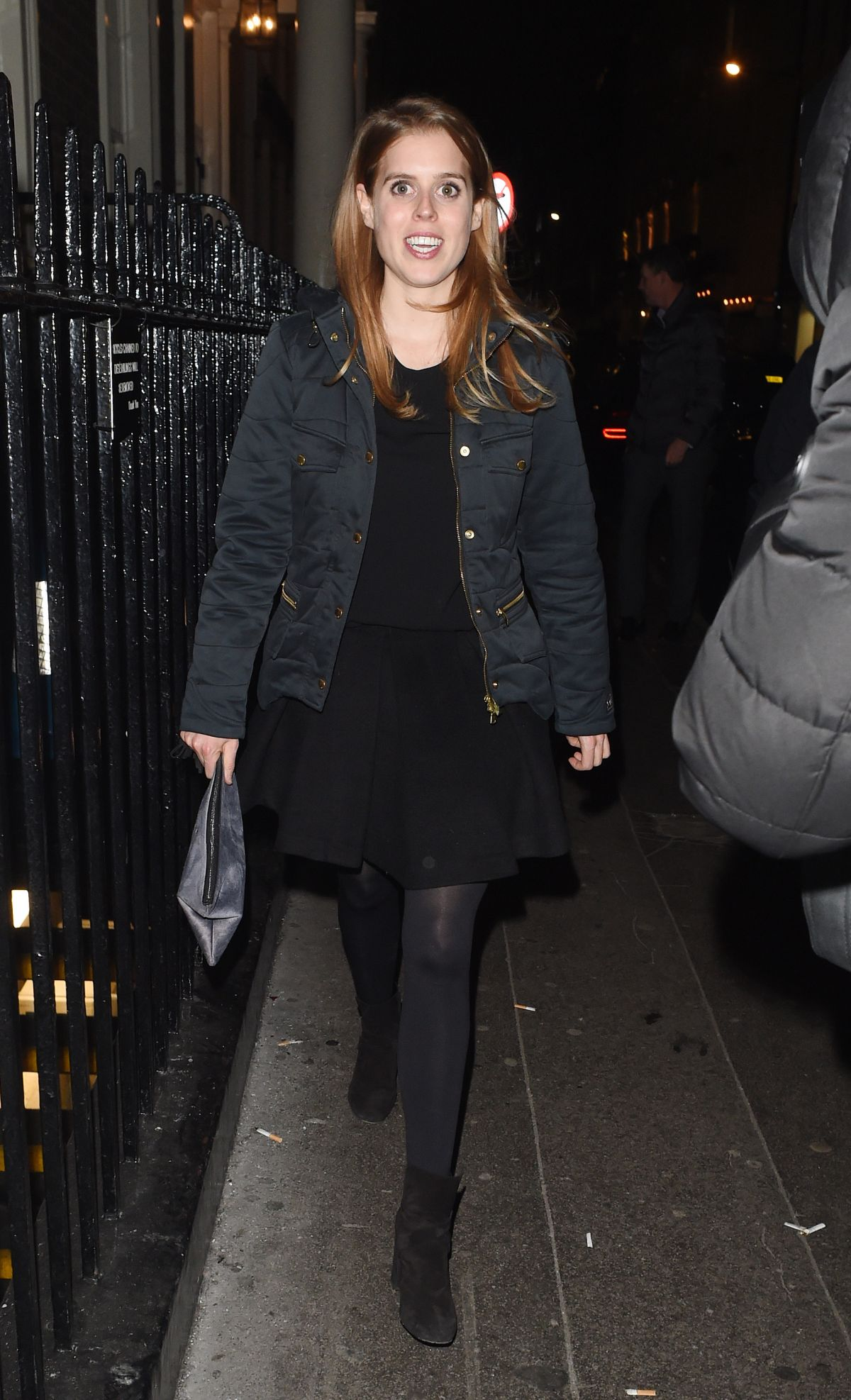 PRINCESS BEATRICE Leaves Arts Club Private Members Bar and Restaurant in London 01/26/2017