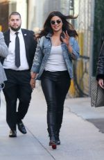 PRIYANKA CHOPRA Leaves Jimmy Kimmel Live in Hollywood 01/19/2017