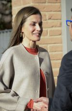 QUEEN LETIZIA OF SPAIN Out in Madrid 01/12/2017
