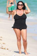 RENEE GRAZIANO in Swimsuit on the Beach in Miami 01/02/2017