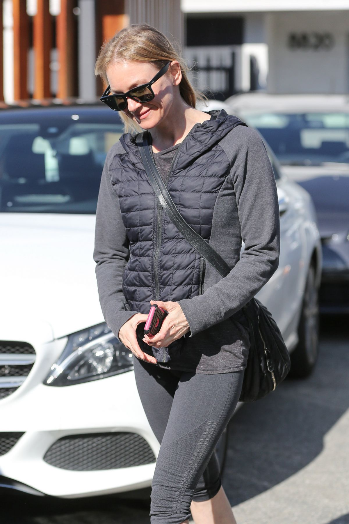 RENEE ZELLWEGER in Leggings Out in West Hollywood 01/17 ...