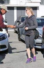 RENEE ZELLWEGER in Leggings Out in West Hollywood 01/17/2017