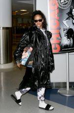 RIHANNA at JFK Airport in New York 01/02/2017