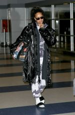 RIHANNA at JFK Airport in New York 01/02/2017