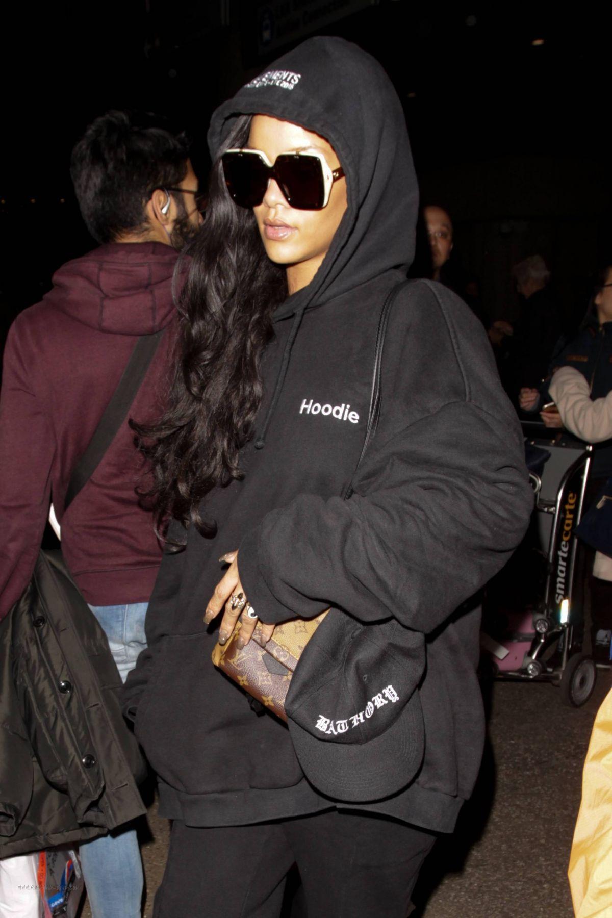 RIHANNA at LAX Airport in Los Angeles 12/16/2016