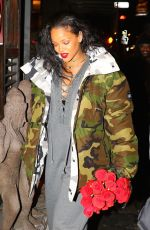 RIHANNA Out for Dinner in New York 01/09/2017