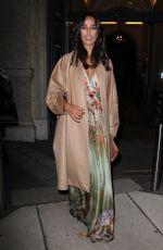 RITA PEREIRA Leaves Alberta Ferretti Fashion Show at Milan Fashion Week 01/13/2017