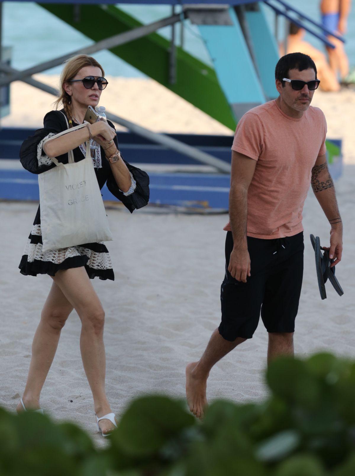 RITA RUSIC on the Beach in Miami 01/21/2017