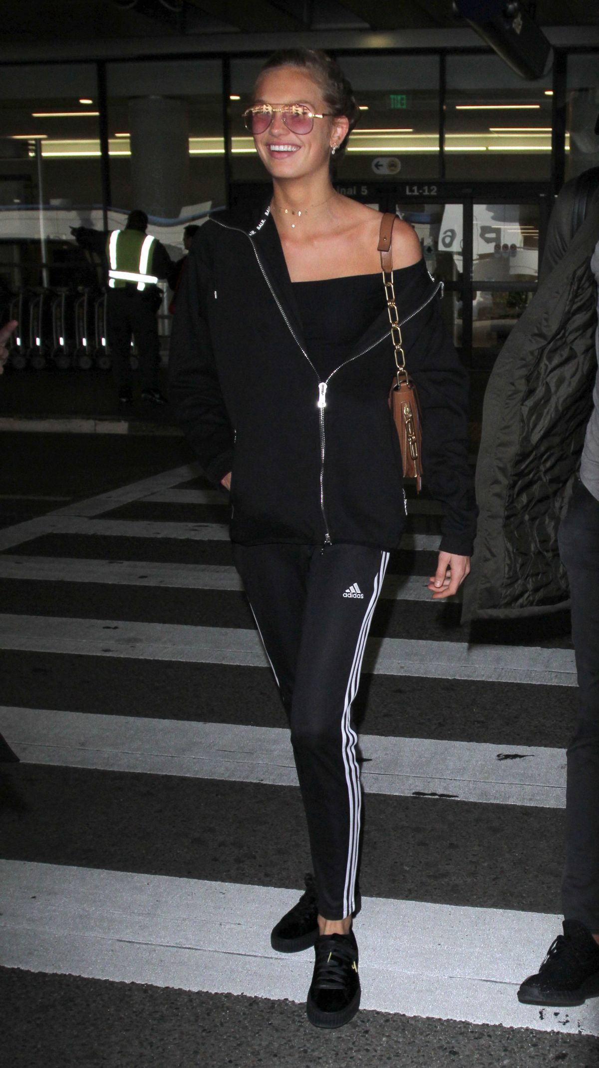 ROMEE STRIJD at LAX Airport in Los Angeles 01/24/2017
