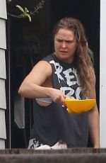 RONDA ROUSEY Outside Her Home in Venice Beach 01/09/2017