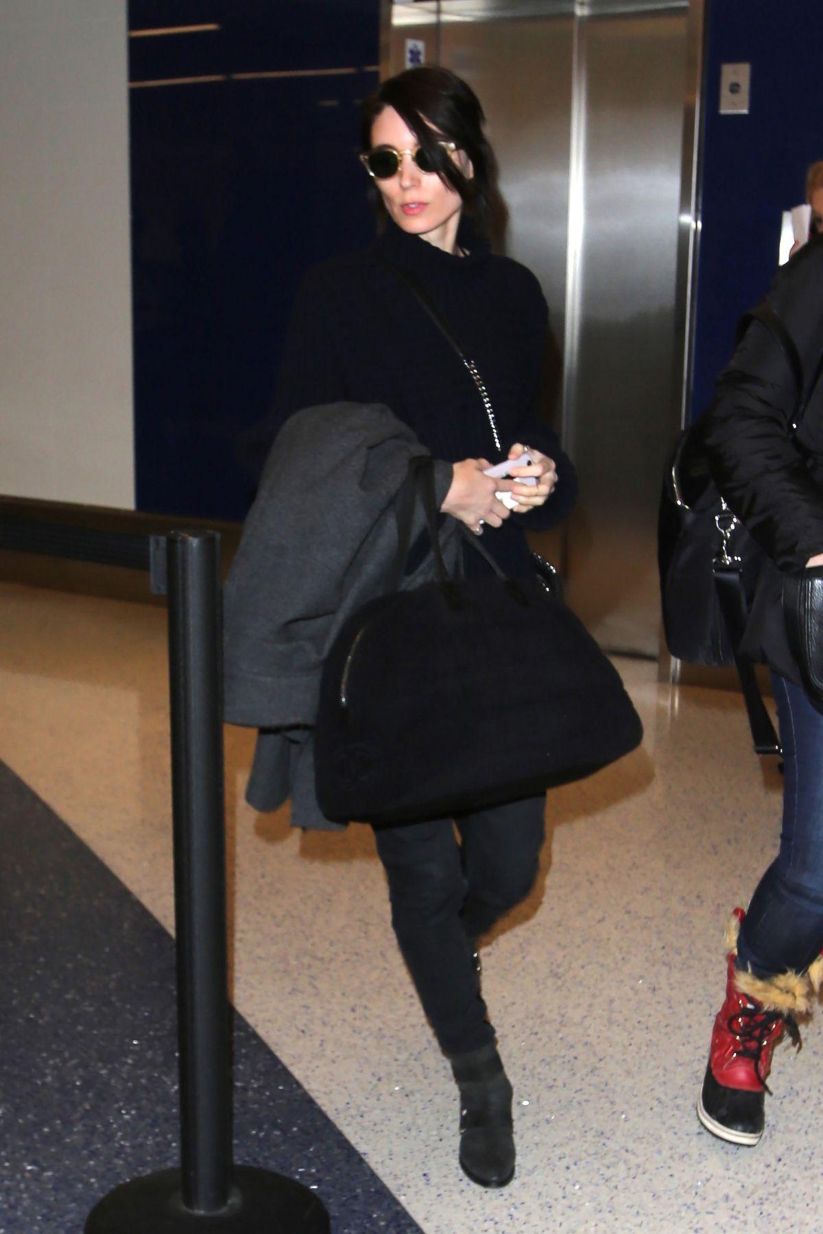 ROONEY MARA Arrives in Salt Lake City 01/20/2017