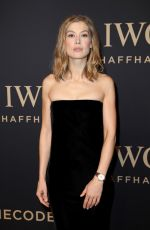 ROSAMUND PIKE at IWC Schaffhausen Decoding the Beauty of Time Gala Dinner in Geneva 01/17/2017