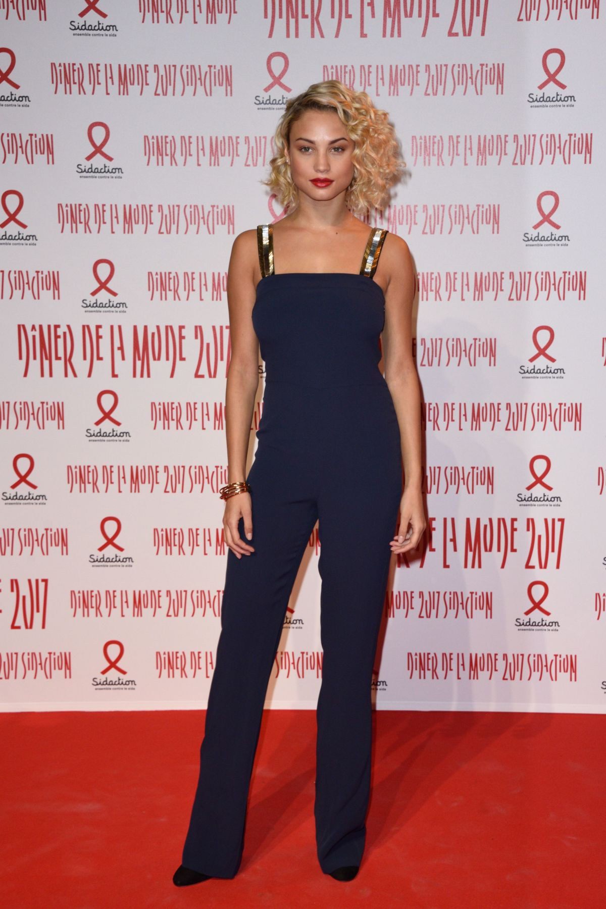 ROSE BERTRAM at Sidaction Gala Dinner 2017 in Paris 01/26/2017