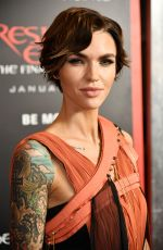 RUBY ROSE at Resident Evil: The Final Chapter Premiere in Los Angeles 01/23/2017