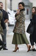 RUTH NEGGA Arrives at Jimmy Kimmel Live! in Hollywood 01/09/2017
