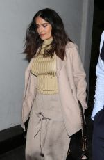 SALMA HAYEK Out for Dinner in Beverly Hills 01/26/2017