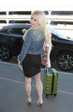 SARA BARRETT at LAX Airport in Los Angeles 01/25/2017