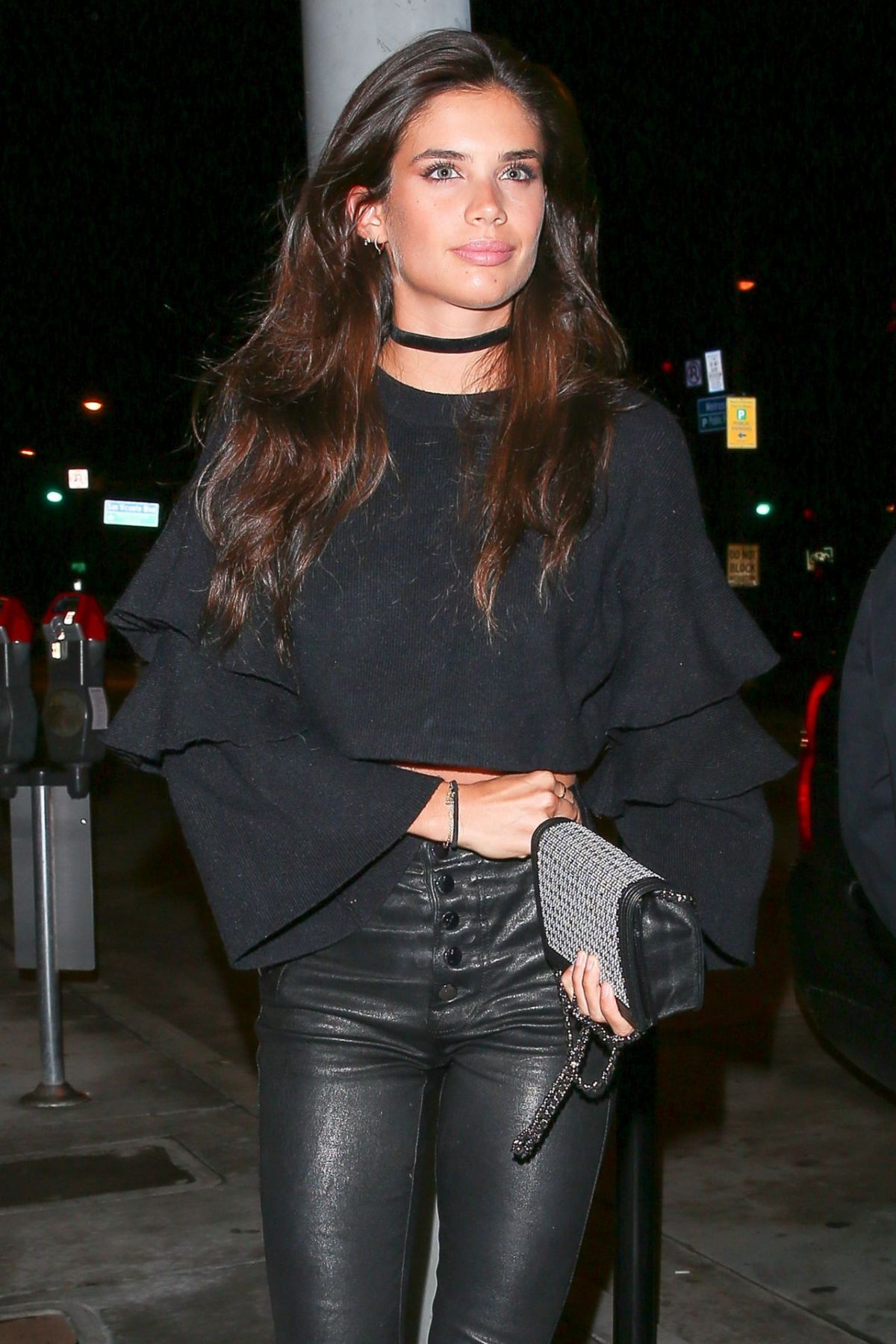 SARA SAMPAIO  Arrives at Catch LA in West Hollywood 01/20/2017