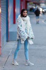 SARA SAMPAIO Out and About in New York 01/29/2017