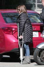 SARAH HYLAND on the Set of Modern Family in Los Angeles 01/26/2017
