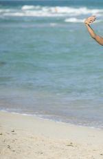 SARAH-JANE CRWFORD in Bikini on the Beach in Miami 12/31/2016
