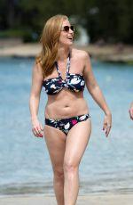 SARAH-JANE MEE in Bikini at a Beach in Barbados 01/08/2017