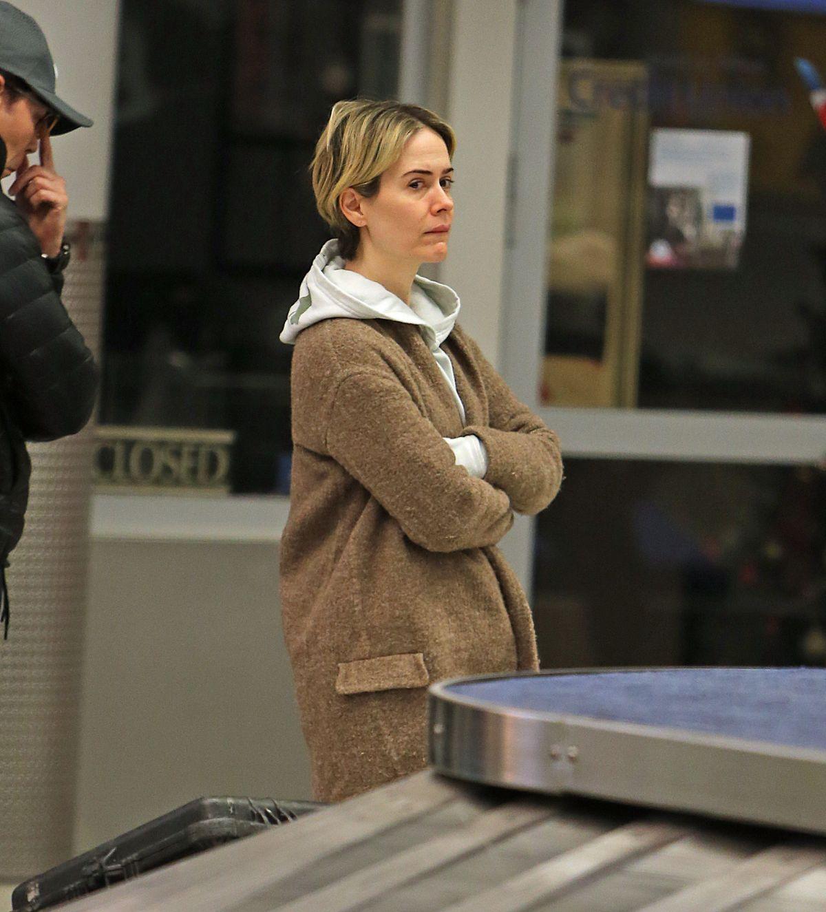 SARAH PAULSON at JFK Airport in New York 01/09/2017 ...