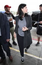 SARAH SILVERMAN at LAX Airport in Los Angeles 01/09/2017
