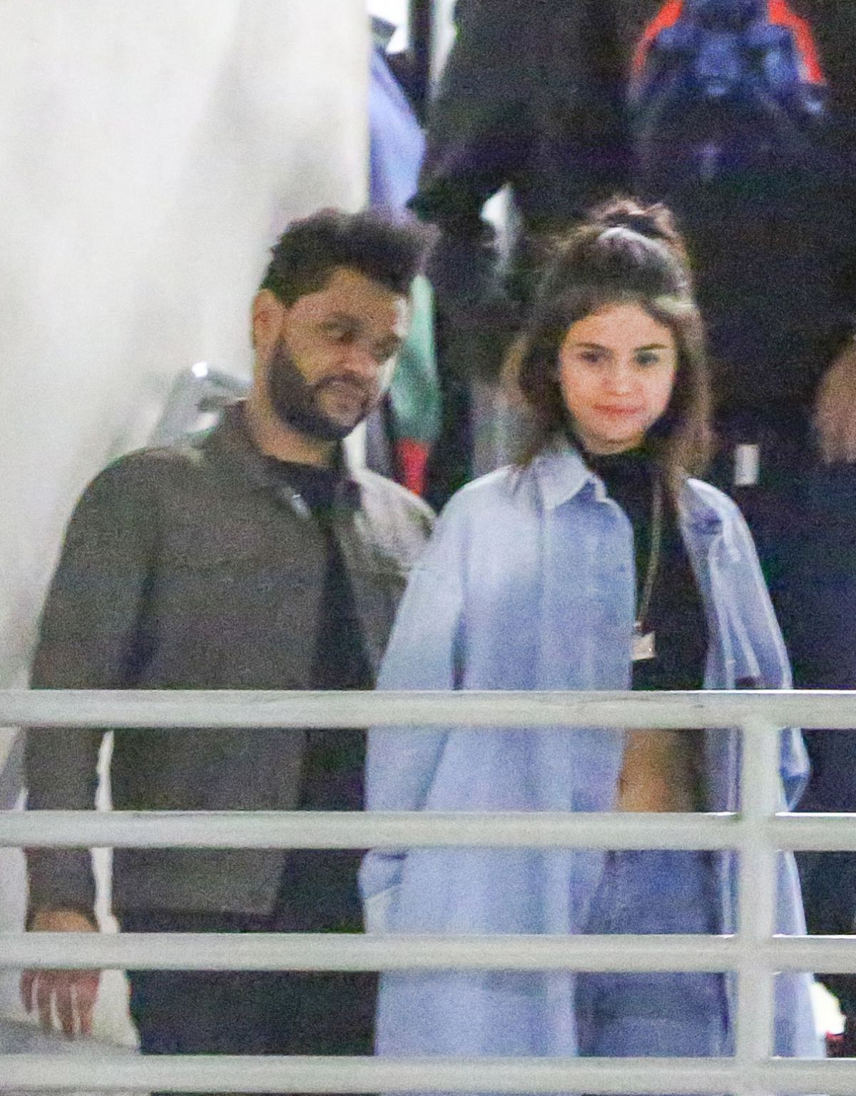 SELENA GOMEZ and The Weeknd Night Out in Hollywood 01/26/2017