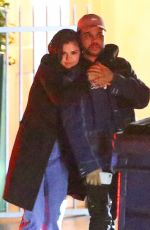SELENA GOMEZ and The Weeknd Night Out in Santa Monica 01/11/2017