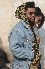 SELENA GOMEZ and The Weeknd Night Out in Venice 01/30/2017