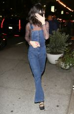 SELENA GOMEZ Out for Dinner at Terroni in Los Angeles 01/15/2017