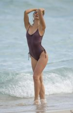 SELENA WEBER in Swimsuit at a Beach in Miami 01/16/2017