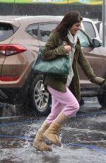 SELMA BLAIR Braved the Rain in Los Angeles 01/22/2017